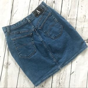 Vintage 1980's Anne Klein high waist denim skirt